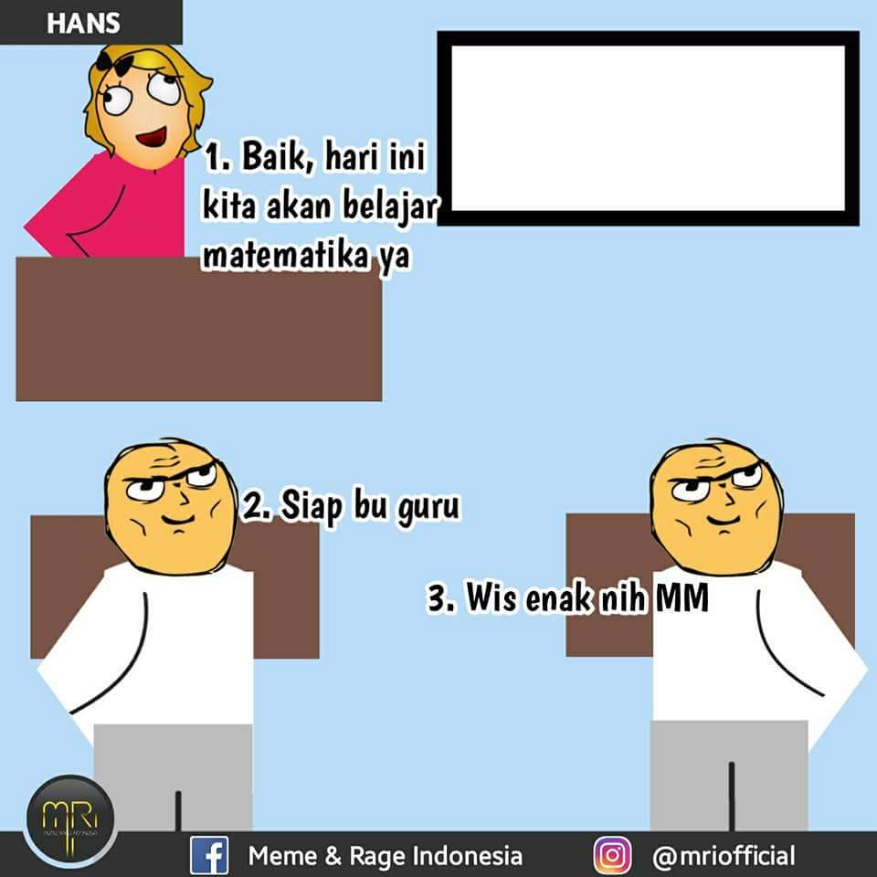 8 Meme Comic Percakapan Pelajaran Matematika Ala Anak Sekolah