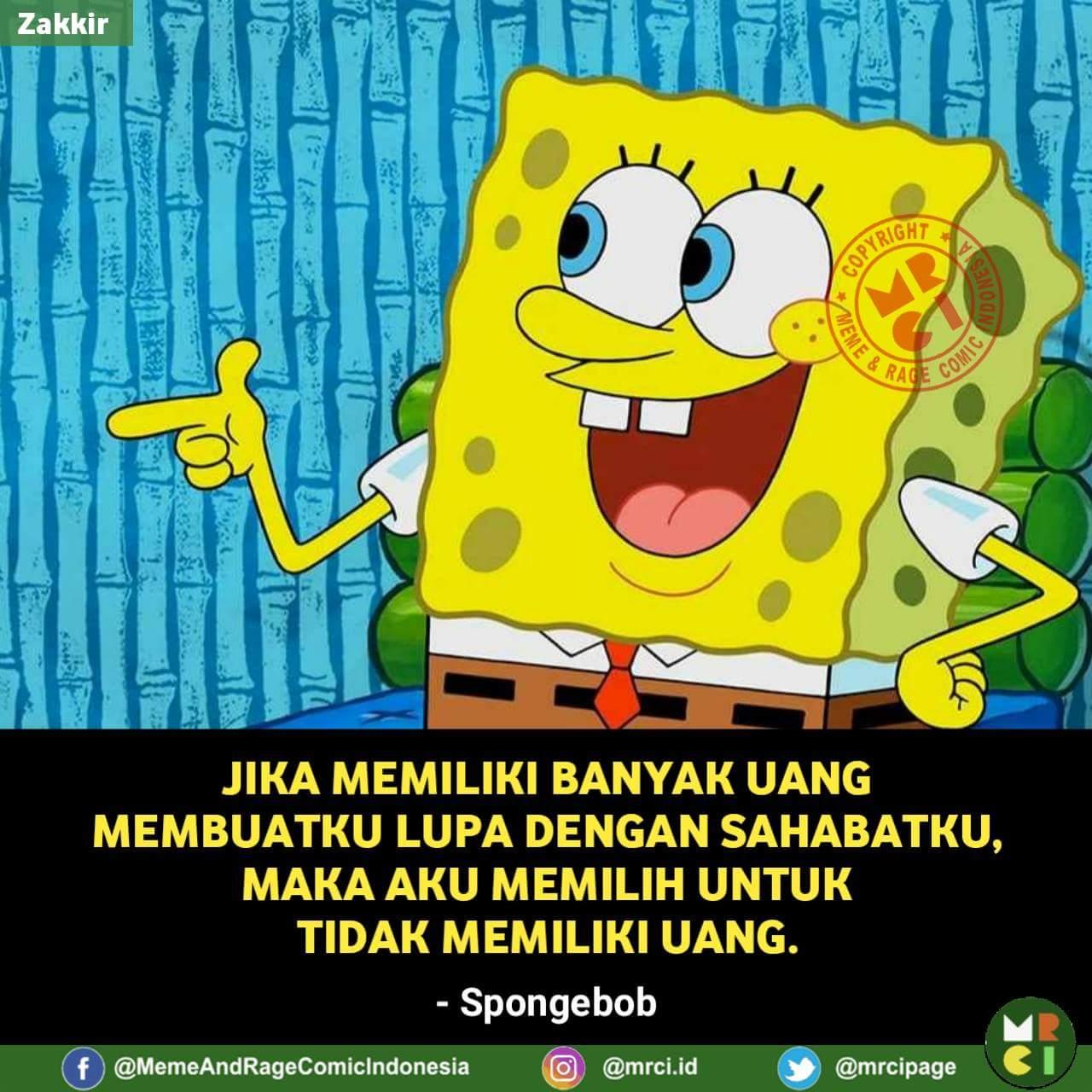 Gambar Kata Kata Lucu Kartun Spongebob Cikimm Com