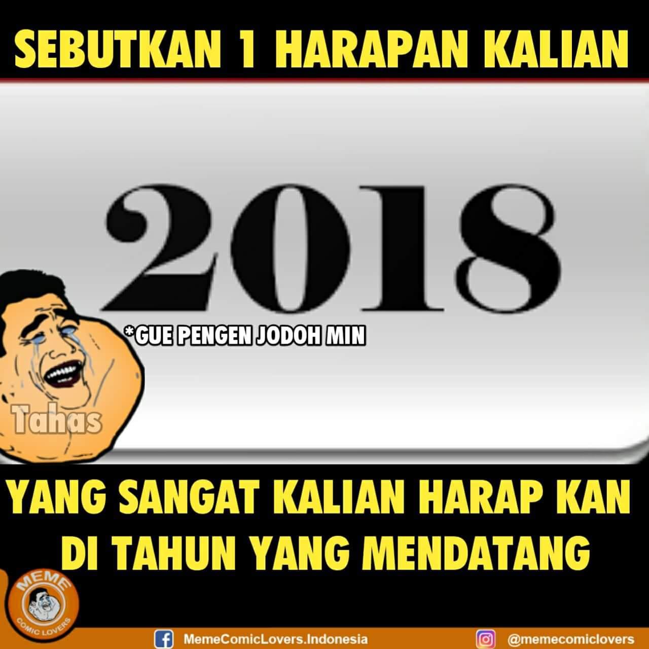 5 meme harapan tahun baru para jomblo di 2018 yang bikin geleng