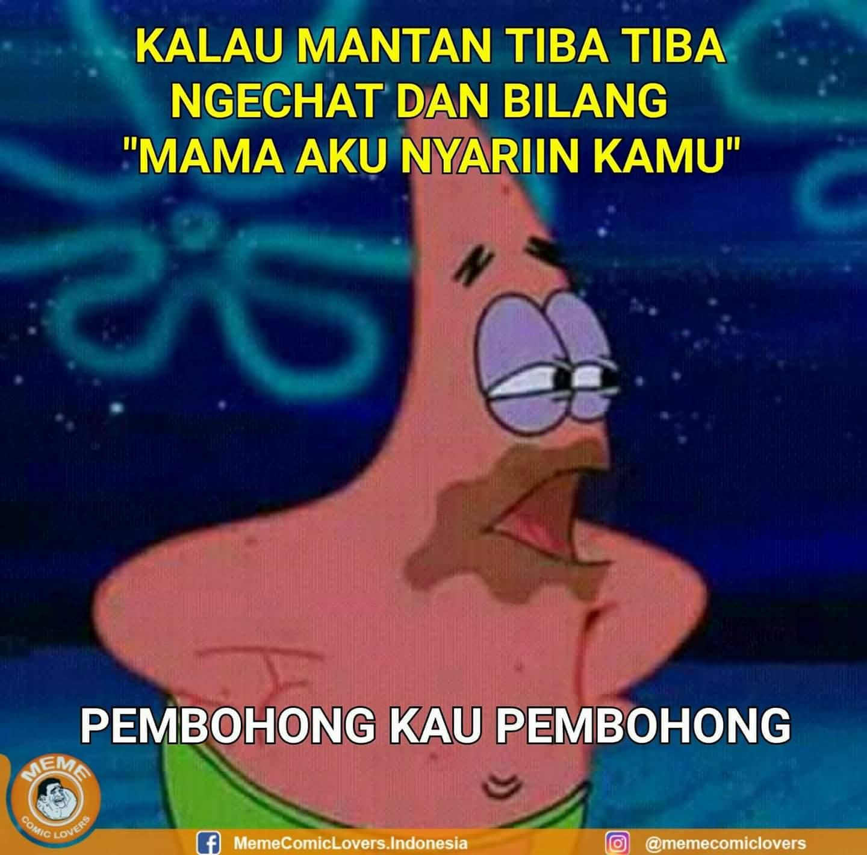 Meme Lucu Spongebob Bahasa Indonesia | DP BBM Lucu, Kocak ...